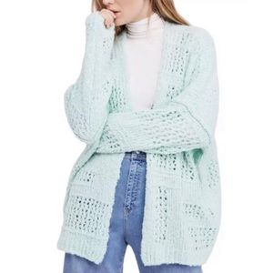 Free People Cardigan Sweater Chunky Open Knit NWT